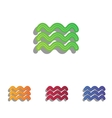 Waves sign Colorfull applique icons vector image