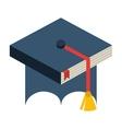 hat graduation uniform icon vector image vector image
