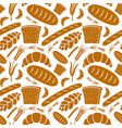 seamless pattern bakery vector image vector image