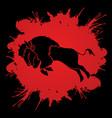 buffalo jumping graphic vector image
