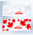 set of happy canada day banners vector image