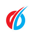 abstract circle arrow company logo vector image