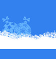 christmas banner with snowflakes and balls vector image