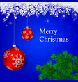 Merry christmas decoration from pine vector image
