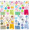 Shopping designs vector image vector image