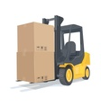 Loader car with boxes vector image vector image