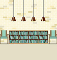 Reading Seats With Bookcase vector image vector image