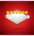 casino with lighting display vector image