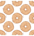 Hand drawn donuts seamless pattern Sweet vector image