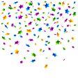 Confetti stars background vector image