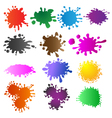 set of colored blots vector image vector image
