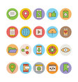 SEO and Marketing Icons 2 vector image