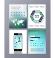 Abstract eco Brochure Flyer design template vector image