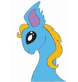 cartoon character little blue pony vector image