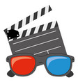 color clipart and 3d glasses icon vector image