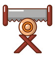 cutting saw icon cartoon style vector image