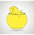 fish in fish tank design vector image