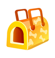icon dog house vector image