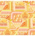 Seamless asian ethnic floral doodle background vector image