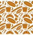 seamless pattern bakery vector image