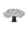 tree oak logo or label nature ecology vector image