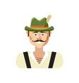 Bavarian man icon cartoon style vector image