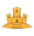 Sand castle icon cartoon style vector image