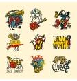 Jazz Labels Set vector image
