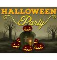 Halloween scene of graveyard vector image