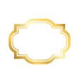 Gold frame simple golden design vector image