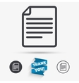 File document icon Download doc button vector image