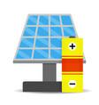 accumulation solar energy vector image