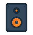audio monitor flat icon sound and speaker vector image