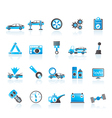Car services and transportation icons vector image