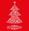 christmas tree of snowflakes vector image