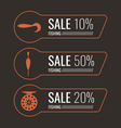 Fishing Sale Banner Set vector image