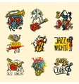 Jazz Labels Set vector image