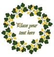 Round frame of yellow summer garden berries vector image