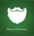santa claus beard and moustache white christmas vector image