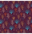 Seamless tree pattern with forest vector image