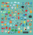 Set of universal icons flat design vector image