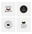 Sweet Sushi Labels vector image