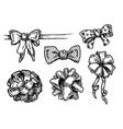 vintage bowknots vector image