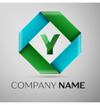 Letter Y logo symbol in the colorful rhombus vector image
