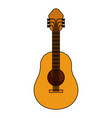 white background with acoustic guitar with thick vector image