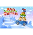 Christmas family trip vector image vector image