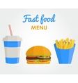 Fast food concept banner vector image vector image