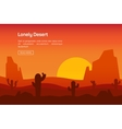 Horizontal banner with lonely desert vector image