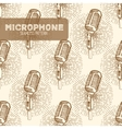 Microphone seamless pattern vector image