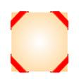 Decorative corner ribbons vector image
